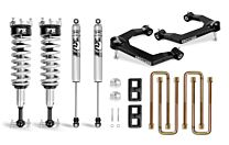 Cognito 3-Inch Performance Leveling Lift Kit With Fox PS Coilover 2.0 IFP Shocks for 19-21 Silverado/Sierra 1500 2WD/4WD