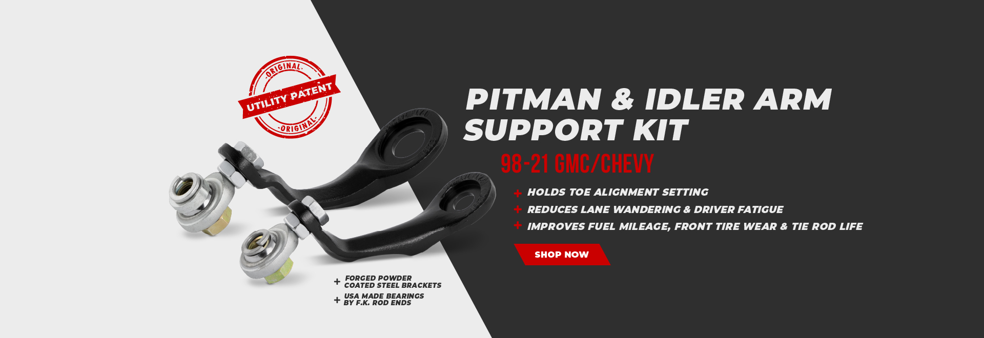 Cognito Pitman and Idler Arm Support Kit
